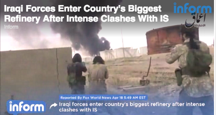 Iraqi soldiers, ISIS militants clash at country's largest oil refinery